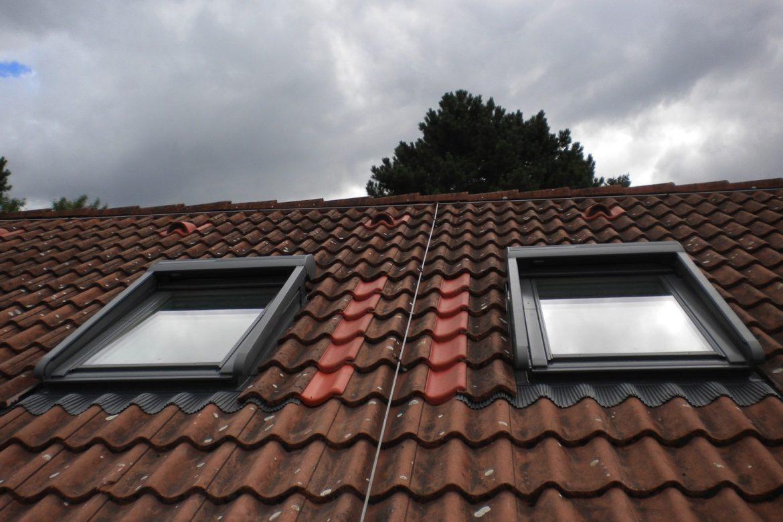 VELUX DFF Einbau mit Aussenrollo solar und LSC - Laibung