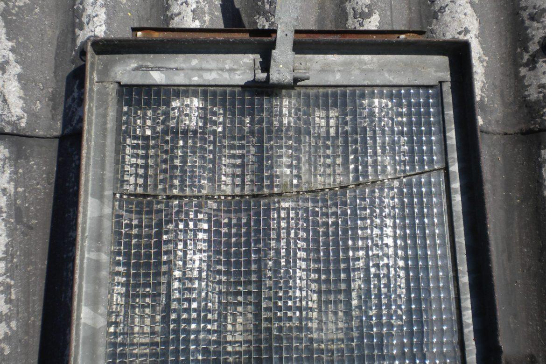 Schadhaftes Fensterdrahtglas - Reparatur
