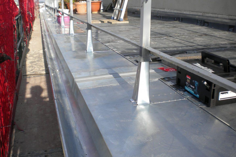 Terrassensanierung mit Stuetzeneinfassungen